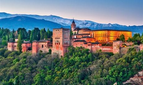 Granada: habitación doble para 2 personas con desayuno en Hotel Poniente