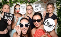 Two-, Three- or Four-Hour Event Photobooth Hire with Attendant, Props and Prints at The Photobooth Club