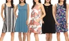 Nelly Women's Sleeveless Dress with Pockets. Plus Sizes Available.