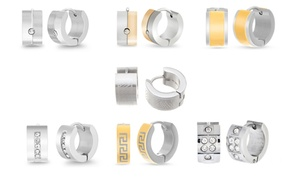 Steel Evolution Men's Huggie Earrings