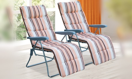 Two Outsunny Reclining Folding Chairs With Free Delivery
