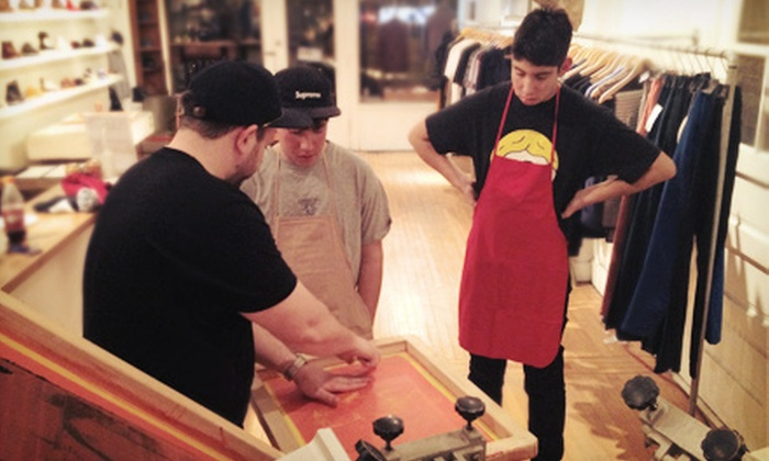 Vividbraille - Bucktown: Three-Hour BYOB Screen-Printing Class with T-Shirts for One, Two, or Four (Up to 58% Off)