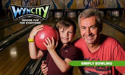 SIMPLY BOWLING: 1 Game ($7.95) or 2 Games ($13.95) Per Person at Wyncity Bowl & Entertainment, Point Cook (Up to $20.90)