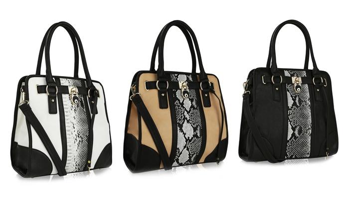 MKF Collection by Mia K. Farrow Studded or Snakeskin-Textured Handbag