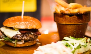 3 Bros Restaurant: Burger and Milkshake for One, Two or Four at 3 Bros Restaurant (Up to 48% Off)