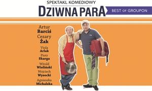 """Impresariat  Adria: 75 zł zamiast 90 zł: bilet na spektakl """"Dziwna para"""" z A. Barcisiem i C. Żakiem"""