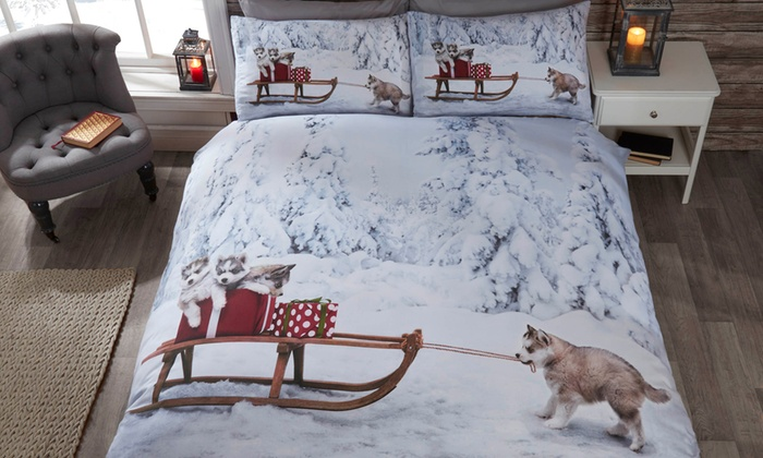 Rapport Home Winter Wonderland Duvet Cover Set in Choice of Design and Size From £15