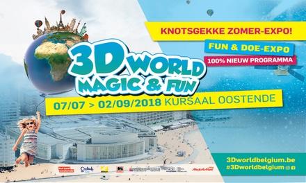 Ticket dentrée, 2 crêpes et boisson dune valeur de 2,50 € chez 3D World Magic & Fun Belgium à Ostende