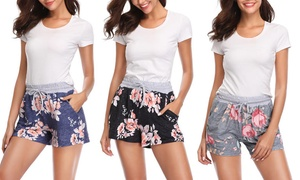Women's Floral Shorts. Plus Sizes Available.