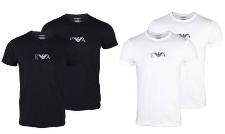 Set 2 T-shirts da uomo Emporio Armani