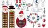 Calendrier de l'Avent avec bijoux de Noël