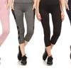 Pink Mint Women's Active Wear Capri Leggings with Side Pockets