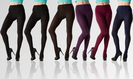 6-Pack of Footed or Footless Sweater Tights
