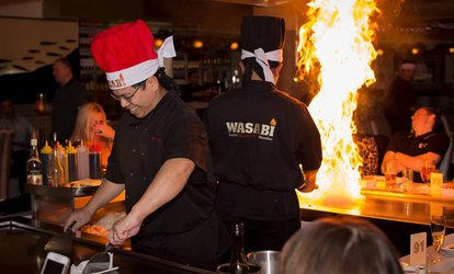 Three-Course Teppanyaki Set Menu for Two at Wasabi Teppan-Yaki Stockton Heath (40% Off)