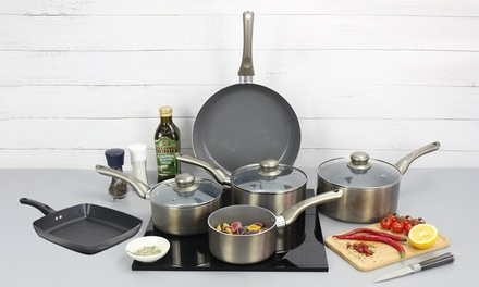 Davis and Grant Square Grill Pan or Two, Three or FivePiece Cookware Set