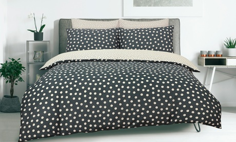 Nórdico reversible de lunares en diferentes tamaños con 1 o 2 fundas de almohadas