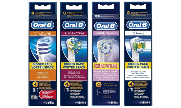 Four or Eight Oral B Replacement Toothbrush Heads