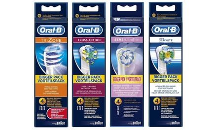 4 or 8 OralB Replacement Toothbrush Heads