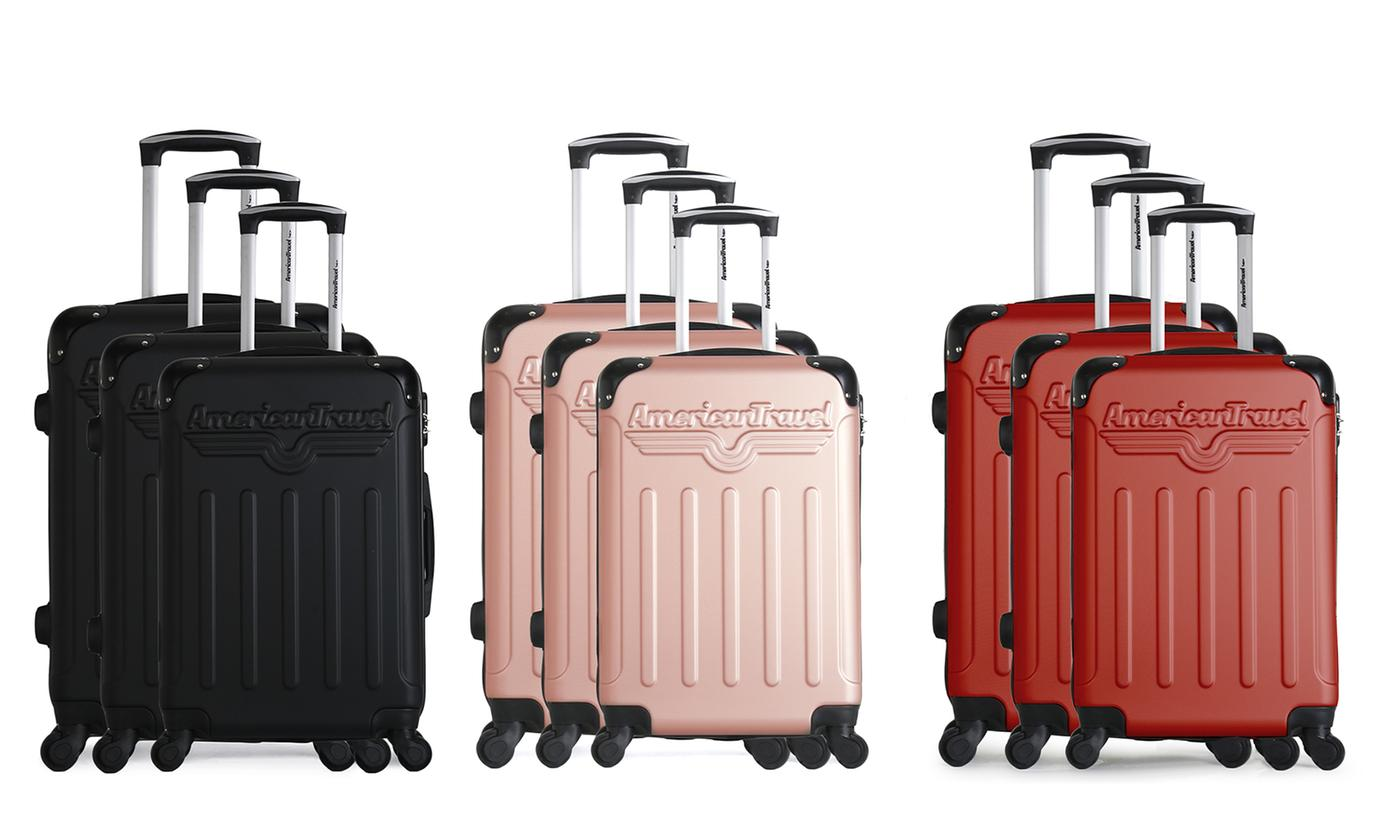 Harlem American Travel Set of Three Suitcases