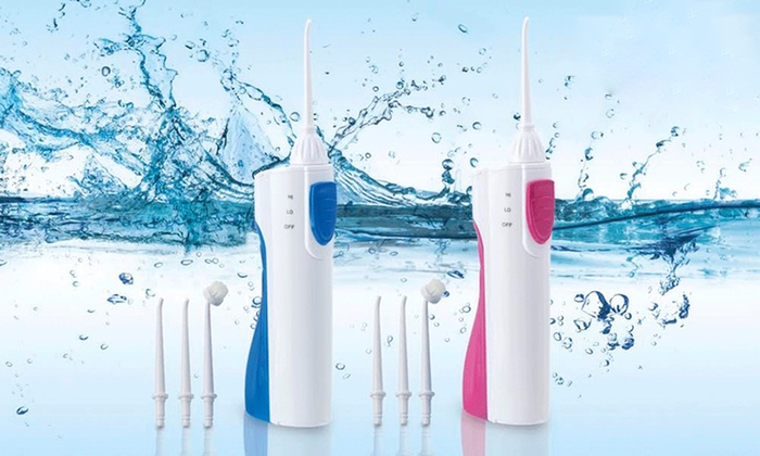Groupon Goods Global GmbH: One or Two Oral Care Cordless Aqua Flossers with Optional Parts