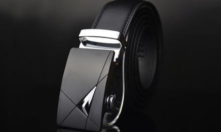 1 ou 2 ceintures 100% cuir pour homme à fermeture automatique et boucle ajustable