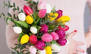 Les Fleurs de Nicolas: Fêtes de Pâques : Bouquet de tulipes produites en France et Eucalyptus dès 9,90€ avec Les Fleurs de Nicolas