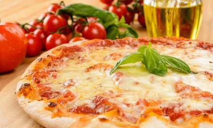 Menu pizza per adulti e bambini
