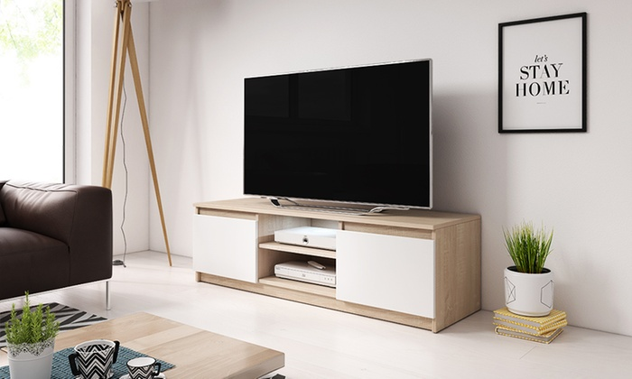 meuble tv fox groupon shopping. Black Bedroom Furniture Sets. Home Design Ideas