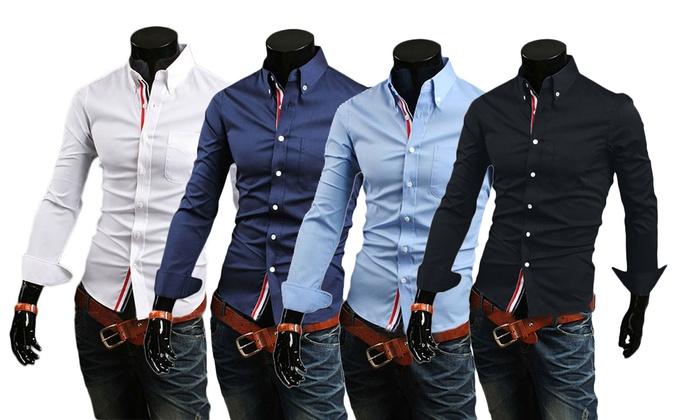 new styles 586b2 bbd6c Una o 2 camicie uomo slim fit | Groupon