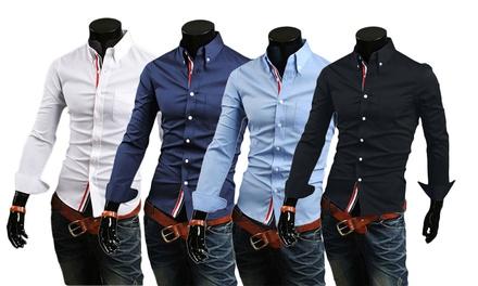 2ffad16a4ac56 Una o 2 camicie uomo slim fit disponibili in varie misure e colori da 18