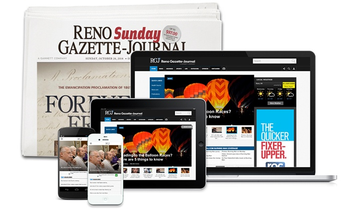 Reno Gazette Journal - Reno: 26- or 52-Week Sunday Edition Subscription to <i>Reno Gazette Journal</i> (Up to 81% Off)