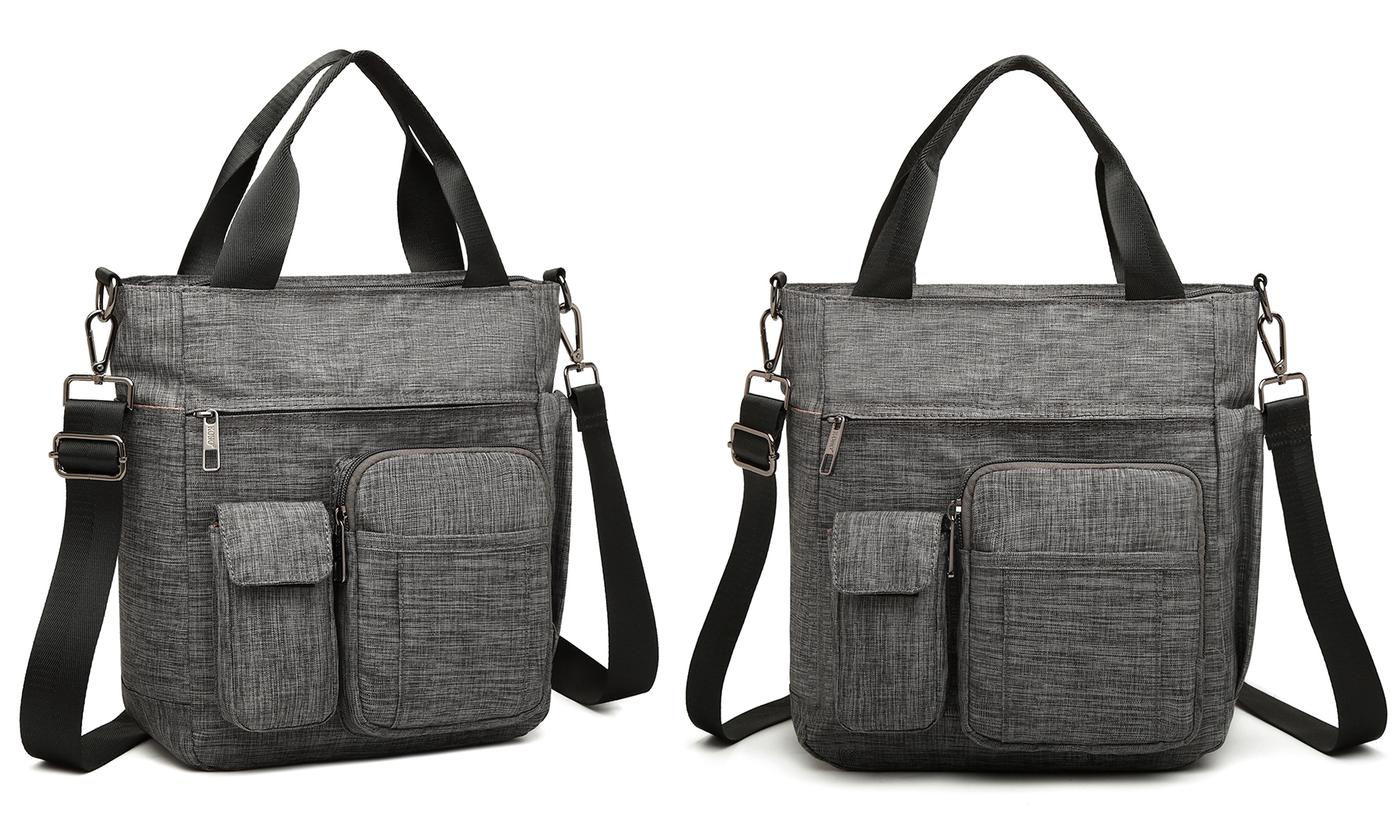 Multi-Compartment Shoulder Bag