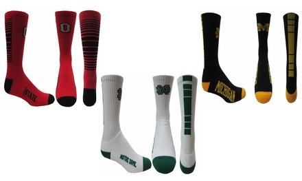 NCAA Logo Crew-Cut Socks for Kids, Men, and Women
