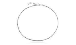 Italian Popcorn Chain Anklet in Sterling Silver at Italian Popcorn Chain Anklet in Sterling Silver, plus 9.0% Cash Back from Ebates.