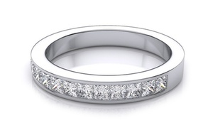 Princess Cut Eternity Ring Made with Swarovski Elements by Mina Bloom