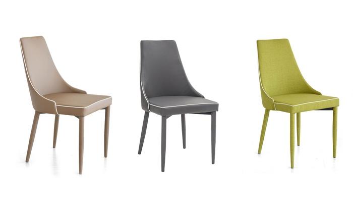 Set di sedie da soggiorno groupon goods