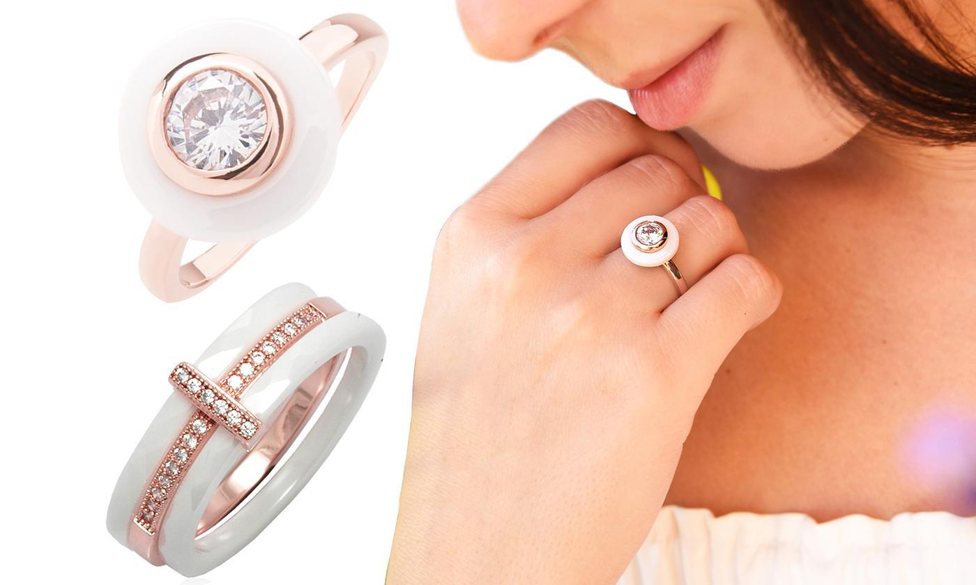 Ah! Jewellery White Ceramic Ring