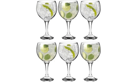 6, 12, 18 or 24 Rink Drink Gin Balloon Glasses