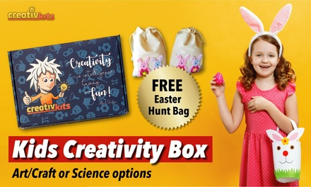 OneMonth Kids Activity Box Incl. Shipping: Standard $29.99 or Premium $39.99 at CreativKits Up to $59.95 Value