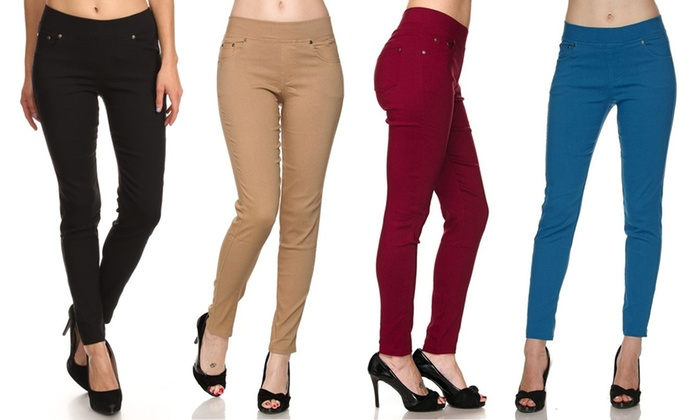 cca9cb1d44c Up To 62% Off on Women s Skinny Pants (3-Pack)