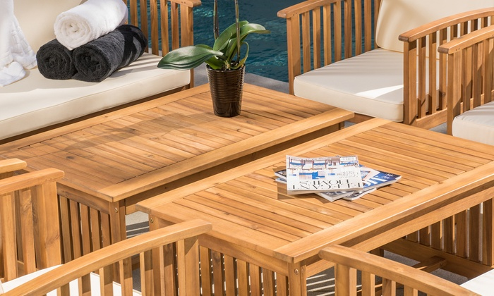 Outstanding 8 Piece Outdoor Seating Set Groupon Goods Caraccident5 Cool Chair Designs And Ideas Caraccident5Info