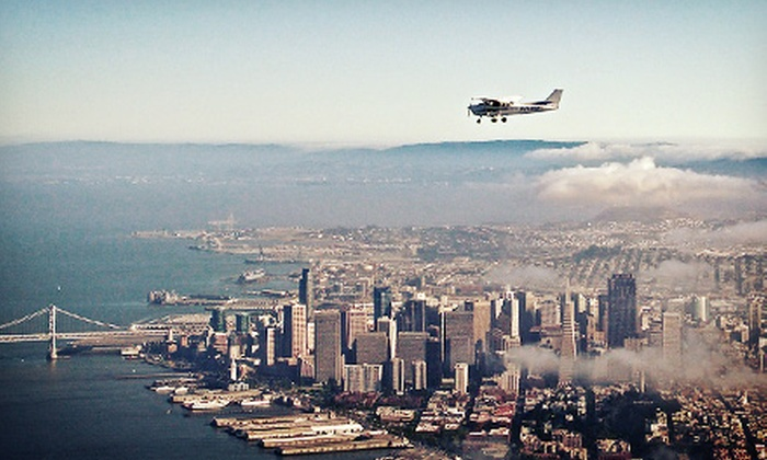 San Carlos Flight Center - San Carlos: $199 for a Bay Area Aerial Tour for Up to Three or Flight Lesson for Two at San Carlos Flight Center (Up to $400 Value)