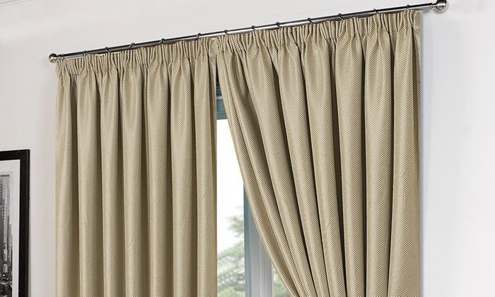 Basket Weave Curtains | Groupon Goods