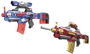 Dimple Foam Dart Attack Blaster with Rapid Refill Cartridges