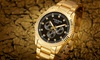 Men's Akribos 12 Diamond Markers Multi-Function Stainless Steel Watch
