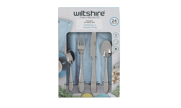 Wiltshire 24 Piece ($29) or 50 Piece ($45) Cutlery Set or Self Stacking Three Piece Pan Set ($55)
