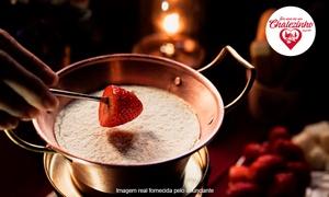 Era uma vez um Chalezinho: Chalezinho com Leite Ninho! 1 fondue salgada + 1 fondue doce ou Lindt® para 2 pessoas