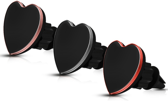 One, Two or Three Heart-Shaped Car Magnet Phone Holders from £4.99