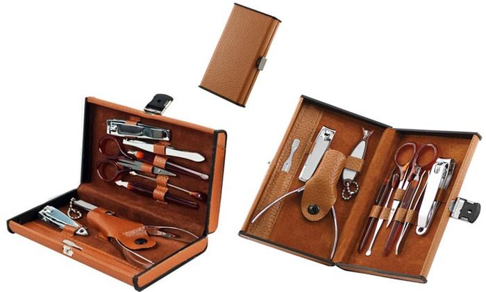 Piece Manicure Pedicure Set In Leatherette Travel Case
