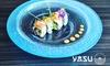 Sushi d'autore con vino
